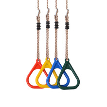 Plastic Gymnastic Rings Children Crossfit Fitness Gym Exercise Pull Ups Kids Muscle Training Ring With Buckle Straps 1 pair
