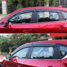 цена на For Mazda CX-5 CX5 2017-2018 Plastic Car Styling Exterior Accessories Car Window Visor Vent Shade Rain/Sun/Wind Guard Trim 4pcs