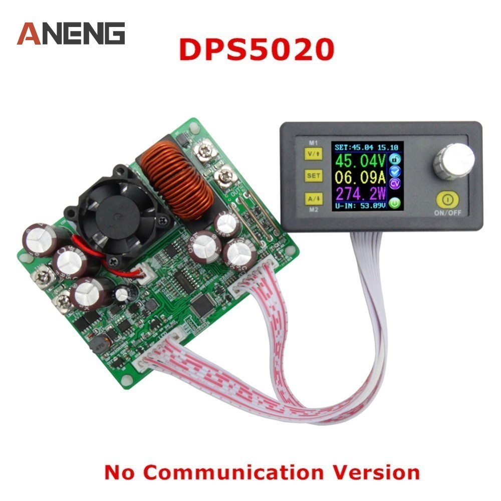 DPS5020 Constant Voltage Current Step-Down Communication Digital Power Supply Voltage Converter LCD Voltmeter 50V 20A