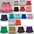 Formación de hielo Ruffle Shorts Shorts leggings Niños Ropa de Bebé Muchachas Del Niño del verano 2 capas de la colmena de pantalones cortos