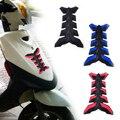 DWCX Protetor de Gás Combustível Do Tanque de Óleo Da Motocicleta Moto Almofada De Borracha capa autocolante espinha de peixe apto para honda yamaha suzuki bmw Ducati