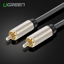 Ugreen RCA to RCA Male to Male Stereo Audio Cable Nylon Braided 3m 5m 10m Coaxial Cable RCA Video Cable for TV Amplifier Home