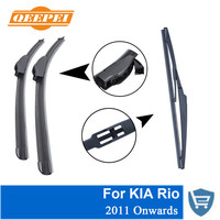 QEEPEI Front And Rear Wiper Blade No Arm For KIA Rio 2011 Onwards High Quality Natural