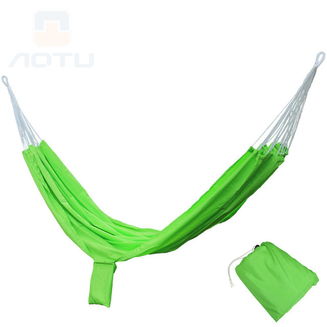 Outdoor leisure portable hammock parachute cloth double hammock camping adult super light