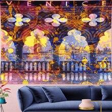 купить Psychedelic VENICE Mandala Tapestry Vintage Pattern Retro poster building Wall Hanging Bohemian  Home Decor Art Wall carptet new по цене 729.47 рублей