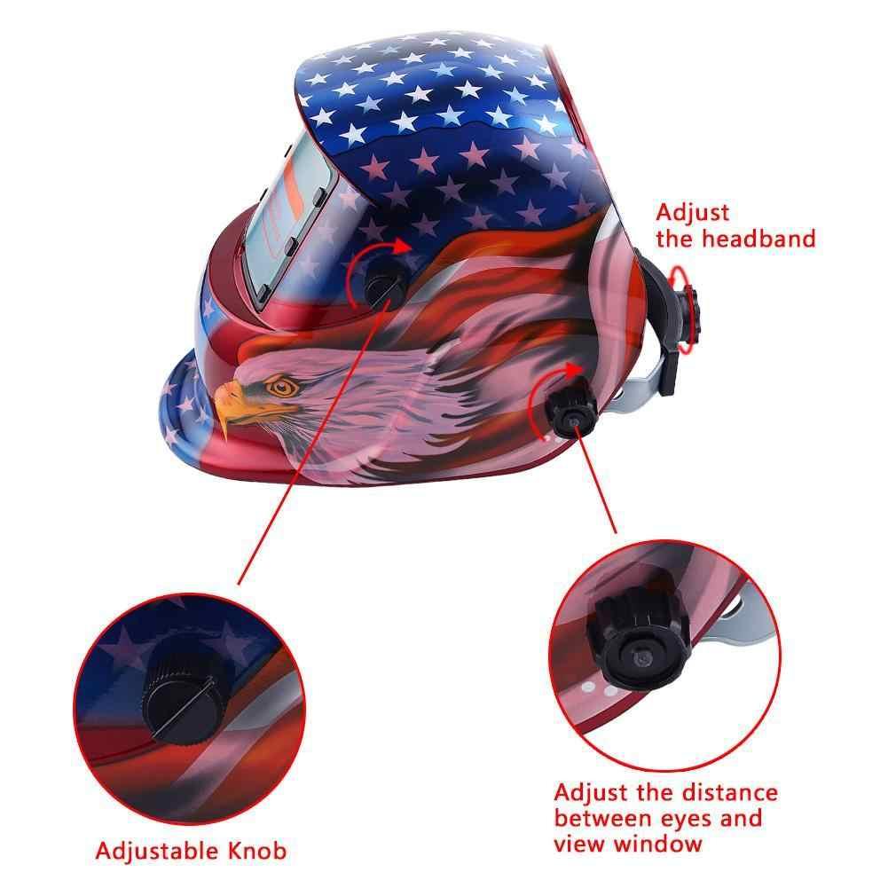 Casco de soldadura de oscurecimiento automático Solar TIG MIG soldador de lente molienda Máscara de Soldadura eléctrica soldador tapa suministro de soldadura #5 a391