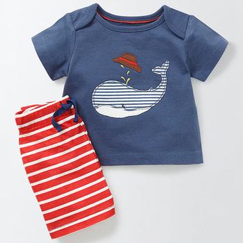 Bear Leader zestawy ubrań dla niemowląt ubrania dla dzieci letnie ubrania chłopięce wzór ubrania + spodnie w paski 2ps dla chłopców tanie i dobre opinie CN (pochodzenie) Na co dzień Krótki Swetry Zwierząt O-neck AZ1435 REGULAR Szorty COTTON Poliester NYLON spandex Pasuje prawda na wymiar weź swój normalny rozmiar