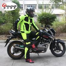 Riding tribe summer/winter Motorcycle breathable mesh Moto protective Jacket mens Reflective Racing moto jackets Jersey pants