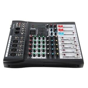 Image 5 - LEORY 6 Canali Karaoke Mixer Audio Con USB 48V Phantom Power bluetooth Microfono Professionale del Suono di Miscelazione Amplificatore Console