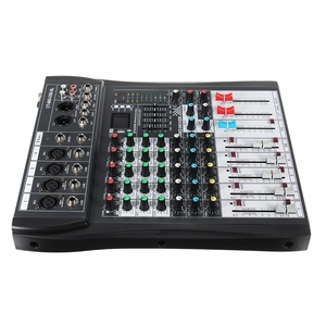 Image 5 - LEORY 6 Channel Karaoke Audio Mixer With USB 48V Phantom Power bluetooth Professional Microphone Sound Mixing Amplifier Console