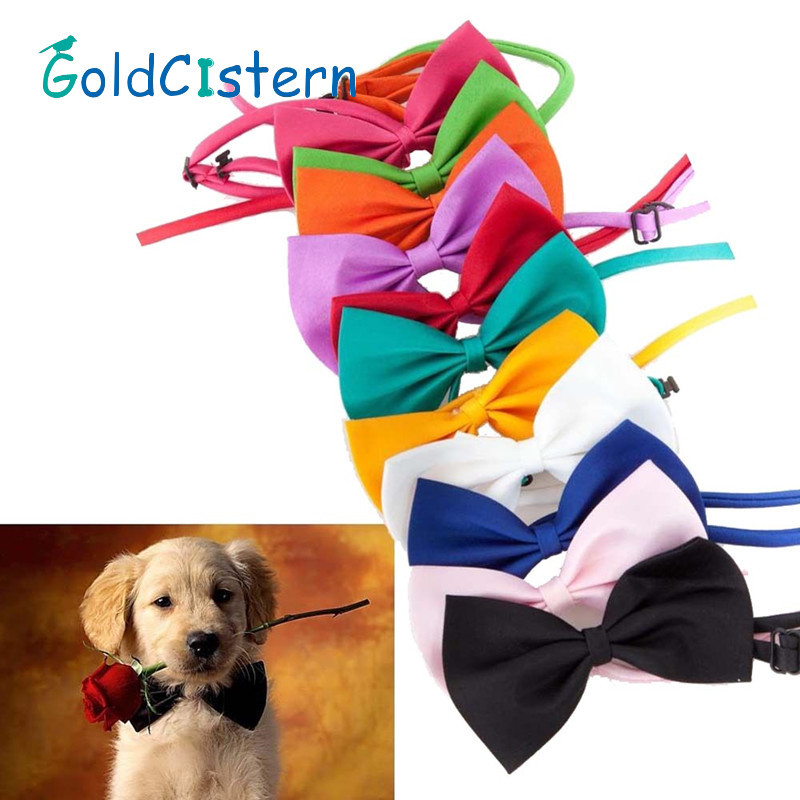 Wholesale Dog Ties font b Pet b font Grooming Accessories Rabbit Cat Dogs Bow Tie Adjustable