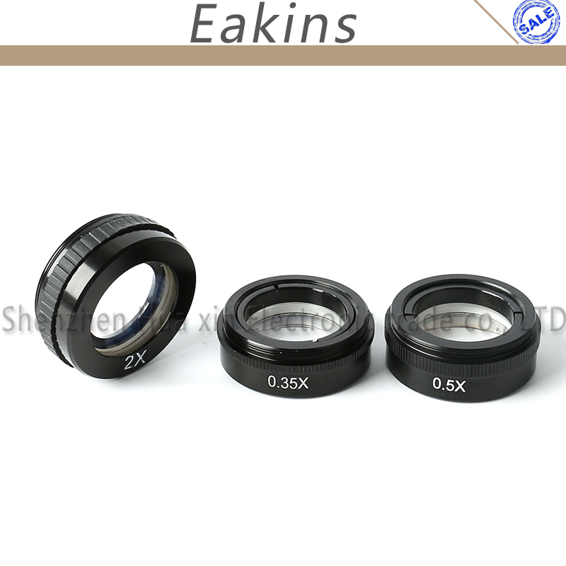 10X~300X Adjustable Magnification 25mm Zoom C-mount Lens+0.35X/0.5X/2.0X Barlow Auxiliary Lens For Industry Microscope Camera