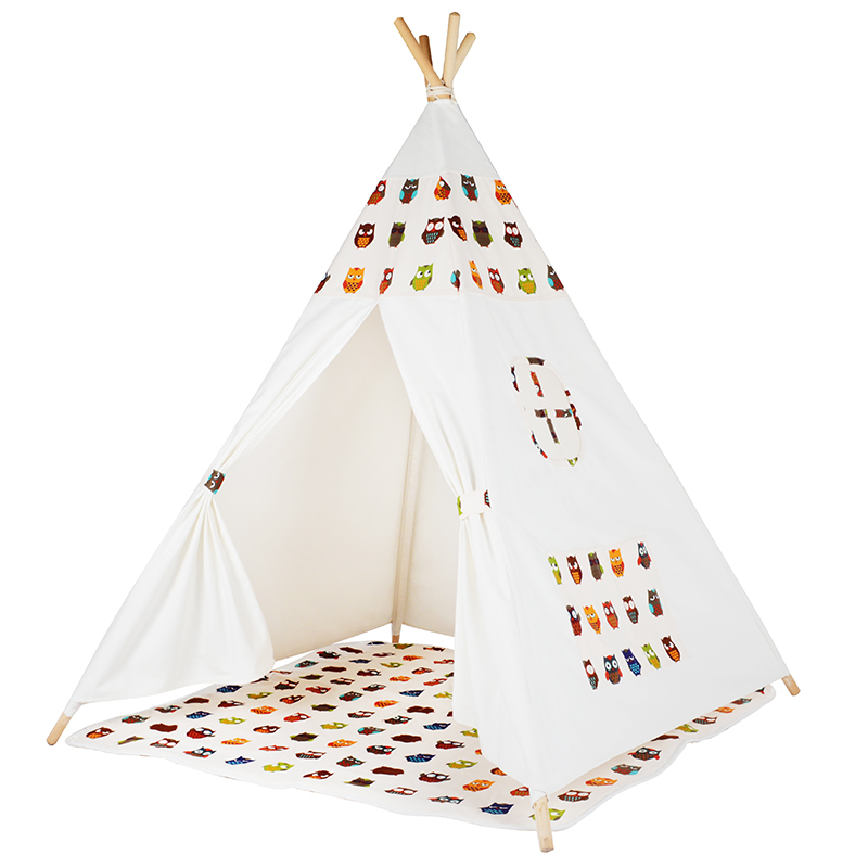 LoveTree Safety Children Indian Toy Teepee Portable Playhouse Kids Indoor Game Room Tent for Outdoor Tourist toy tent foldable kid indoor tent kids outdoor playhouse children kids tent toys play tent game house indian teepee
