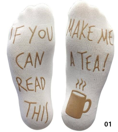 Funny Letters Crew   Socks