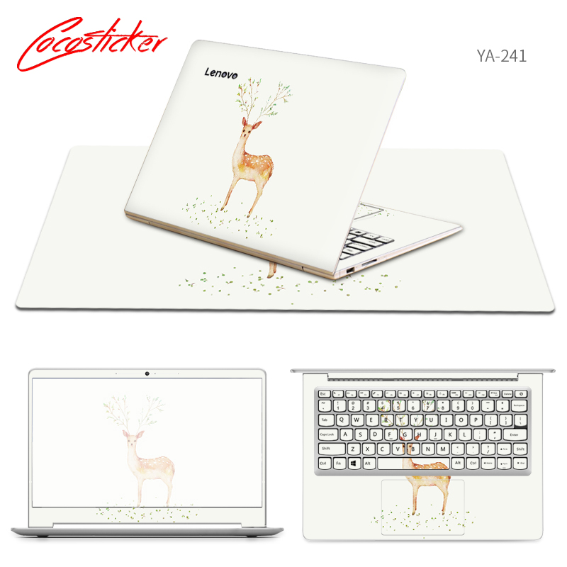 Free Cutting Laptop Stickers and Mouse Pad For Lenovo u31 70/U41 70/y50c/Z51 70/Z41 70/ideapad 100/E50 80/FLEX 3 1120 Skin Cases