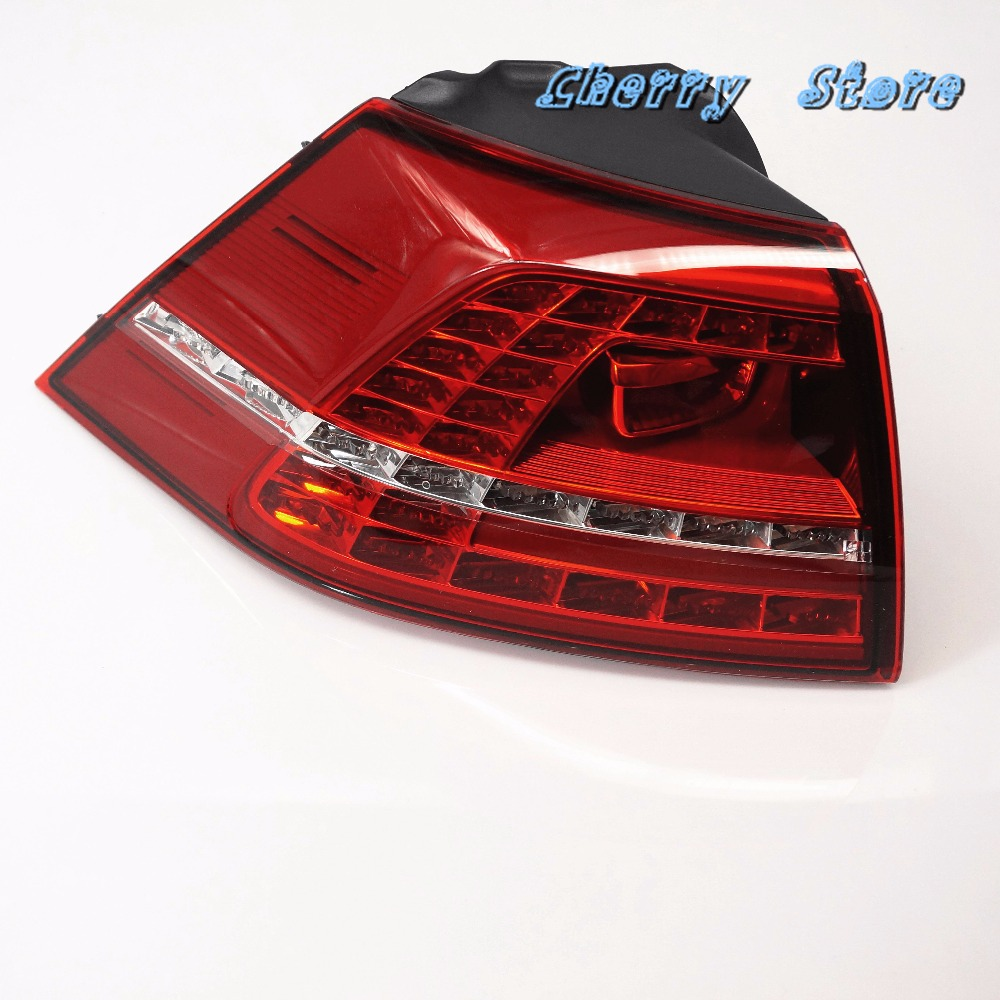 NEW 5GG 945 207 Left Outside LED Taillights Tail Lamps Tail Light Assembly For VW 2013-2015 Golf GTI MK7 MKVII 5G0 945 207 new high quality 1 piece led dark red tail lamp tail light right fit for vw golf gti r mk7 2013 2016 5g0 945 208 5g0945208