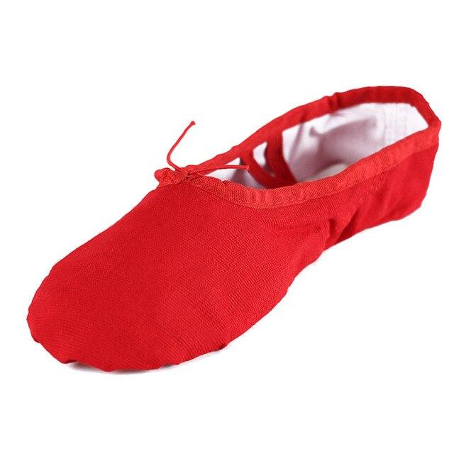 90f27b1fcae26 Nouvelles chaussures de danse de Ballet en toile Breahtable Gym Yoga  pratique unique ballerine chaussures de