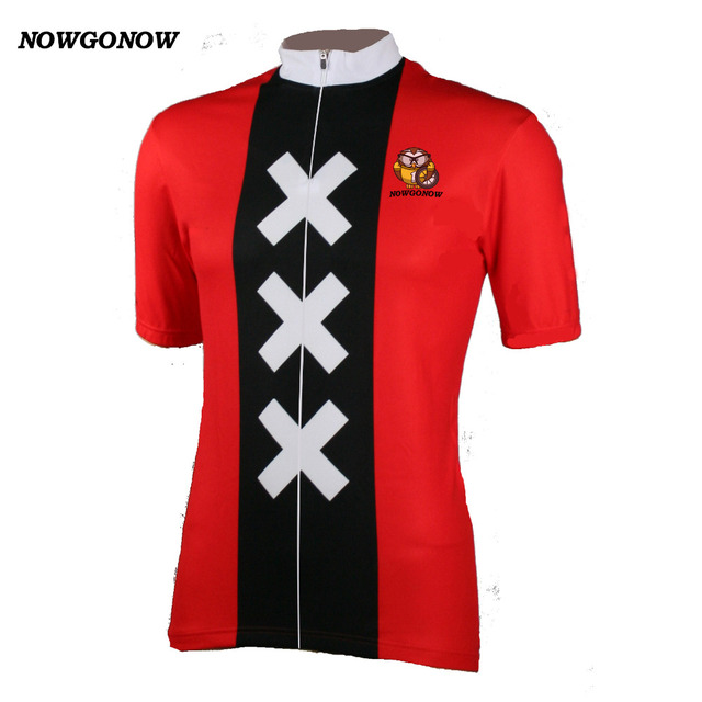 Wholesale custom MEN cycling jersey X X X classic Retro red clothing bike  wear pro racing team maillot ropa ciclismo NOWGONOW 4bd879b95