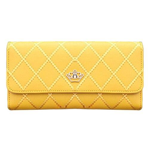 FGGS Women Clutch Long Purse Leather Wallet Card Holder Handbag Bags (Yellow) наушники с микрофоном sven seb 26bk black