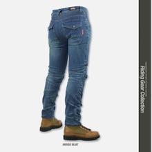 Motorbiker джинсы PK-718 мотоцикл мужские внедорожные открытый джинсы/велосипедные штаны с SK686 колодки бедра protectors