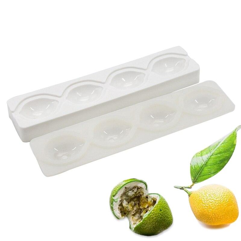 3D Silicone Citron Forme Fordant Gâteau Moules de Cuisson Pour Gâteaux de Crème Glacée Dessert Moule De Décoration Outils