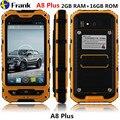 Original A8 IP68 Waterproof phone MTK6582 2GB RAM+16GB ROM 5MP NFC Quad Core Android Phone Shockproof 3G GPS BV5000