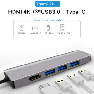 Fealushon Docking Station Type C Plug HDMI USB Power Delivery Hub for Laptop Macbook Pro HP DELL Surface Lenovo Samsung Dock(China)