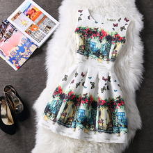 2017 New Fashion Women Butterfly Print Summer Dress Vestidos Femininos Ukraine Ball Gown Tropical Elegant Casual Dress Vintage
