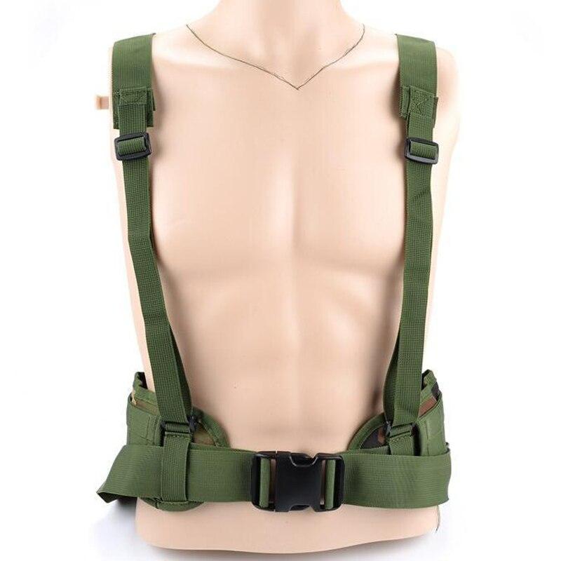 Molle Tactical Army Special 1000D Nylon degli uomini della Cinghia militare cintura Comoda combattimento Cintura EAS a forma di H Regolabile Morbido imbottito