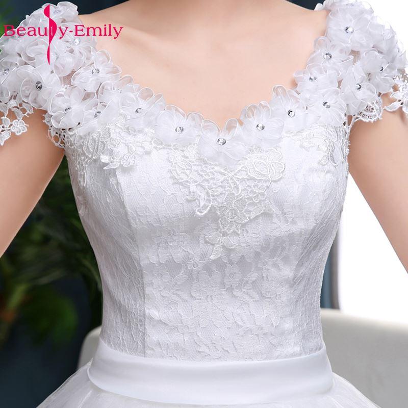Ομορφιά-Emily Λευκό νυφικά 2018 Μπάλες - Γαμήλια φορέματα - Φωτογραφία 6