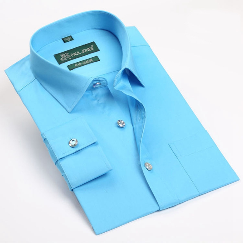 e077536c3b7 Long Sleeve Fashion 2019 Men Shirts Solid Color Diamond Button Formal Dress  Shirt Classic Fit Cotton Men Casual Business Shirts