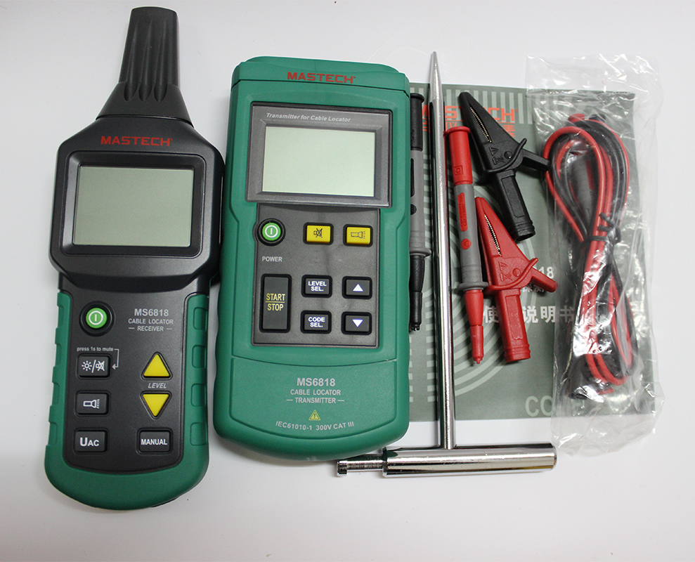 цена на Free ship Mastech MS6818 Portable Professional Wire Cable Tracker Metal Pipe Locator Detector Tester Line Tracker Voltage12~400V