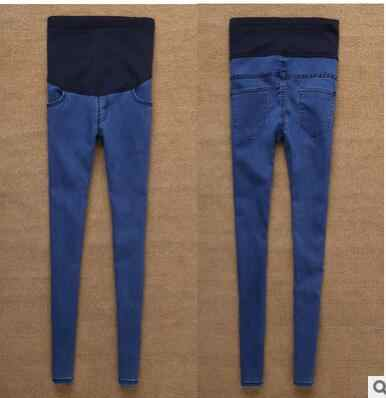 3a7b44698d7f5 2017 Hot Sale Good Quality Cotton Denim Skinny Maternity Jeans Holes  Contrast Stitching Pockets Pencil Jeans