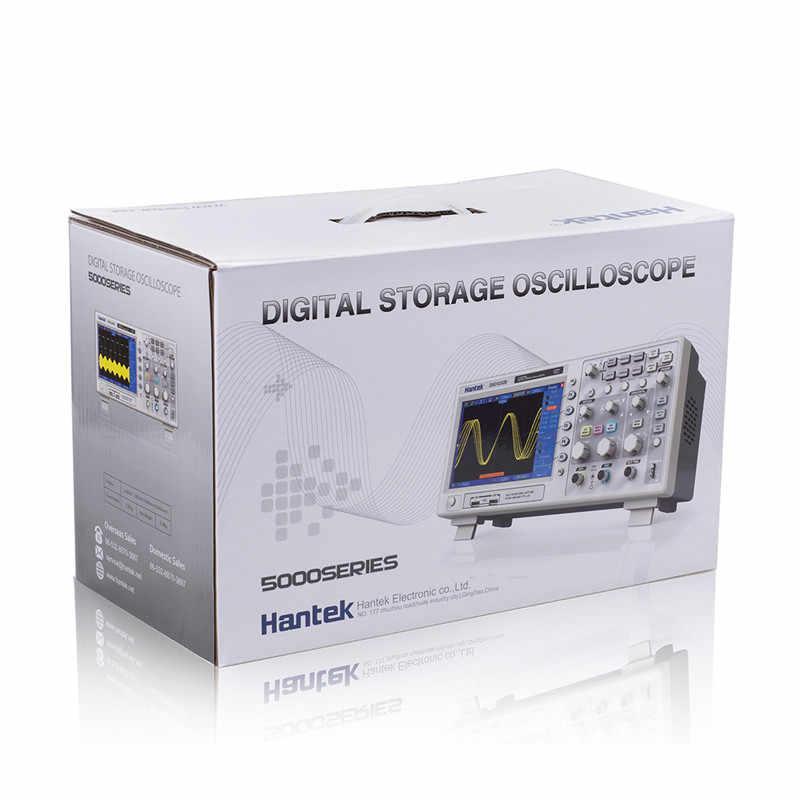 Oscilloscope Original hantek dso5202p oscilloscope sonde 200Mhz 1GSa/s 2 canaux LCD stockage numérique Oscilloscope