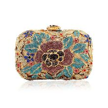 Fashion Women Bags 2016 Designer Flower Crystal Clutch Evening Lady Party Famous Michaeled Purse And Handbags High Quality