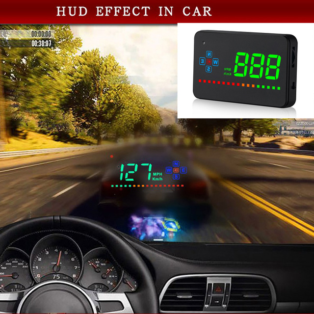 3.5 inch Car Head Up Display Car Hud Digital GPS Speedometer Overspeed Alarm Auto Windshield Projector Car Electronics