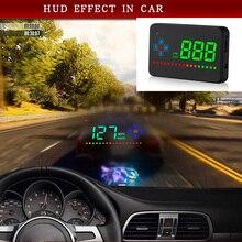 Pantalla frontal de coche de 3,5 pulgadas Hud Digital GPS velocímetro alarma de exceso de velocidad Auto parabrisas proyector coche electrónica