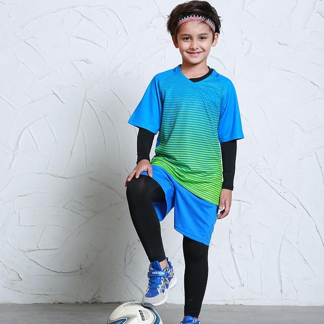 Jersey de fútbol deportes trajes para niños ropa de fútbol kits para niñas  de verano de d550f4bd1bd52