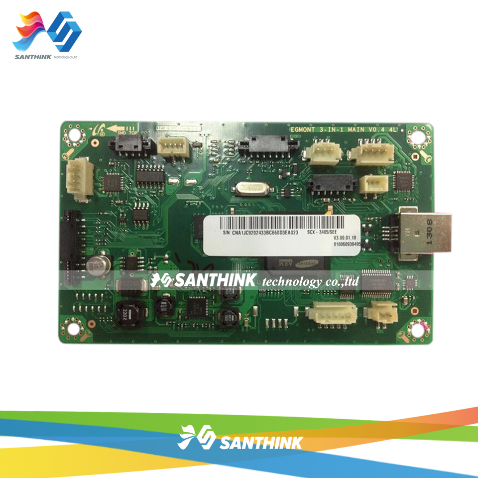 100% Test Main Board For Samsung SCX-3405 SCX-3405W SCX 3405 3405W SCX3405W SCX3405 Formatter Board Mainboard On Sale free shipping mainboard for samsung scx 4720f scx4720f scx 4720f 4720 formatter board main board on sale