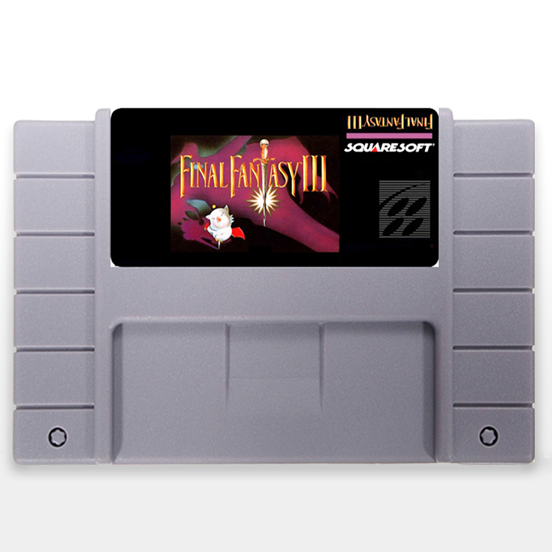 Save File Final Fantasy 3 USA Version 16 bit Big 46 pins Gray Game Card For NTSC Game Player