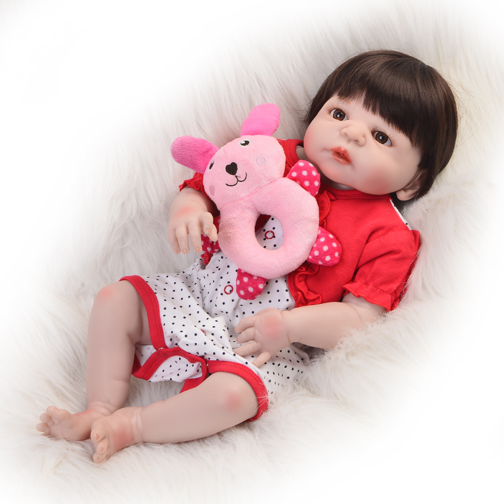 Lifelike 23 Inch Reborn Doll Girl 57 cm Boneca Reborn Silicone Completa Fashion Princess Baby Toy For Toddler Kids Xmas Gifts keiumi 23 babies girl reborn baby doll full body silicone vinyl realistic 57 cm princess new born boneca reborn boneca gifts