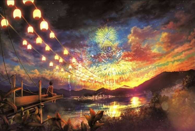common puzzle 1000 pieces Sky fireworks paper jigsaw