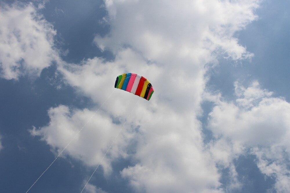 Nouveau arrivé 2.5 carré double ligne cerfs-volants PARAFOIL PARACHUT SPORTS plage cerf-volant facile à voler pour le plaisir des jouets en plein air