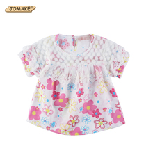 Girls Blouses Summer Style New Fashion Baby Girl Blouse Kids Floral Shirt Lace Short Sleeve Blusas chemise Toddler Girl Clothing