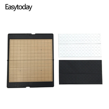 Easytoday Mini Go Game Chess Magnetic Folding Plastic Board Games Set Portable pocket Weiqi Outdoor Entertainment Gift