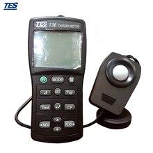 TES-136 цветной осветитель колориметр 0,1 до 99990 lx цветовая температура TES136