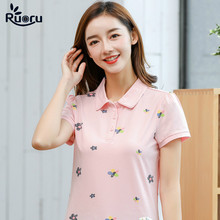 Ruoru New Fashion Summer Slim Women Polo Shirts Short Sleeve Cotton Tops Tees Female Solid