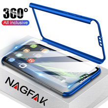 Luxury 360 Full Cover Phone Case For Huawei Honor 9 Lite 10 8x Case For Honor 10 8 Lite 8X Max Case Protective Cover With Glass(China)
