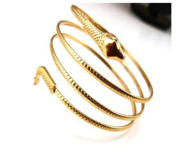 New Arrival Punk Fashion Coiled Snake Spiral Upper Arm Cuff Armlet Armband Bangle Bracelet Men Jewelry For Women Party Barcelets