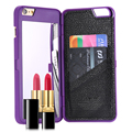 FLOVEME For iPhone 6 6S Plus Girls Case Hidden Make Up Mirror + Card Slot Hard PC Phone Cover For Apple iPhone 6 6S 4.7 Plus 5.5